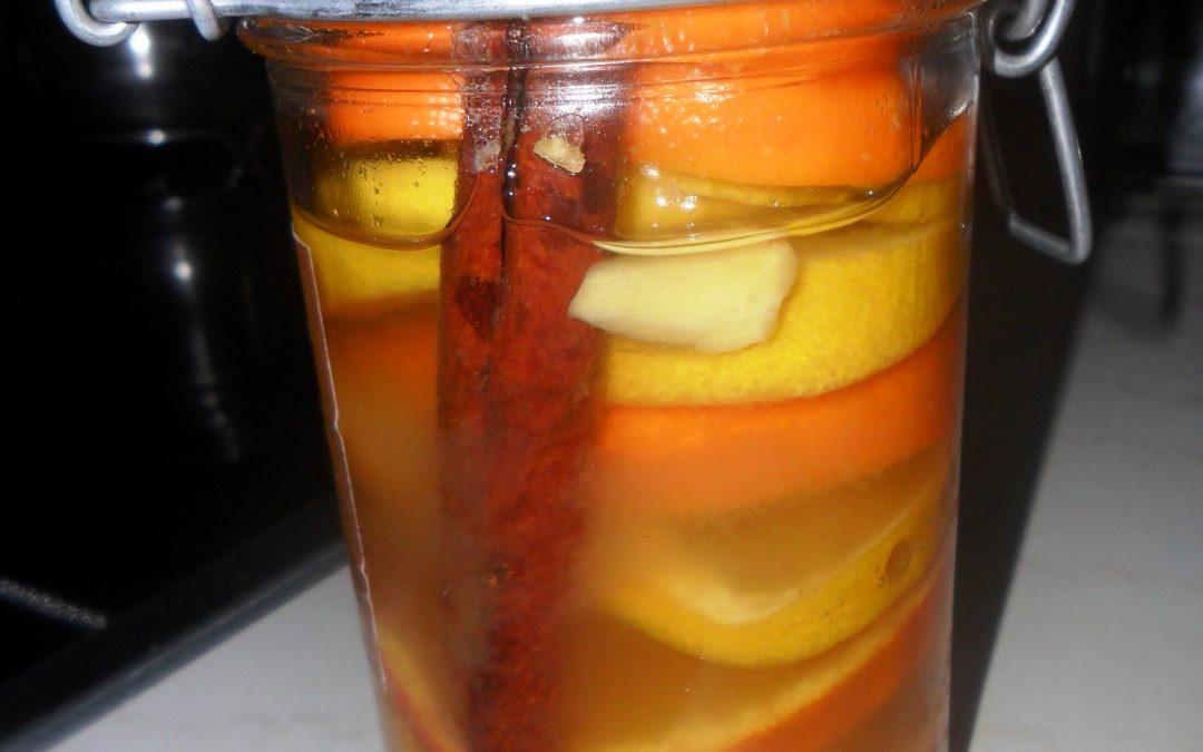 Pomarańczowo korzenny miód do herbaty
